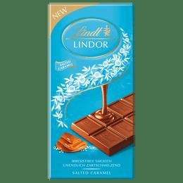 Lindt LINDOR Milk Salted Caramel Bar 100g
