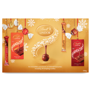 Lindt LINDOR Gold Selection Box 500g