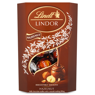 Lindt LINDOR Milk Hazelnut Chocolate Truffles 200g