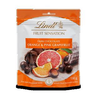 Lindt FRUIT SENSATION Orange & Pink Grapefruit 150g - Short Dated Stock*