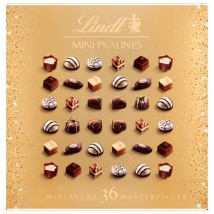 Lindt MINI PRALINES Christmas Chocolate Box 180g