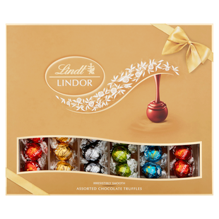Lindt LINDOR Assorted Chocolate Truffles Gift Box 525g