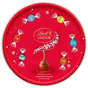 Lindt LINDOR Assorted Chocolate Tin 450g
