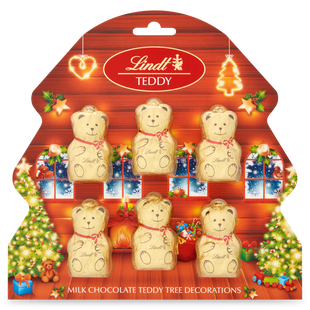 Lindt GOLD TEDDY Tree Decorations 60g