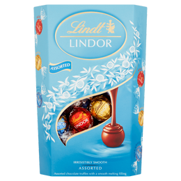 Lindt LINDOR Milk & White Assorted Truffles 337g