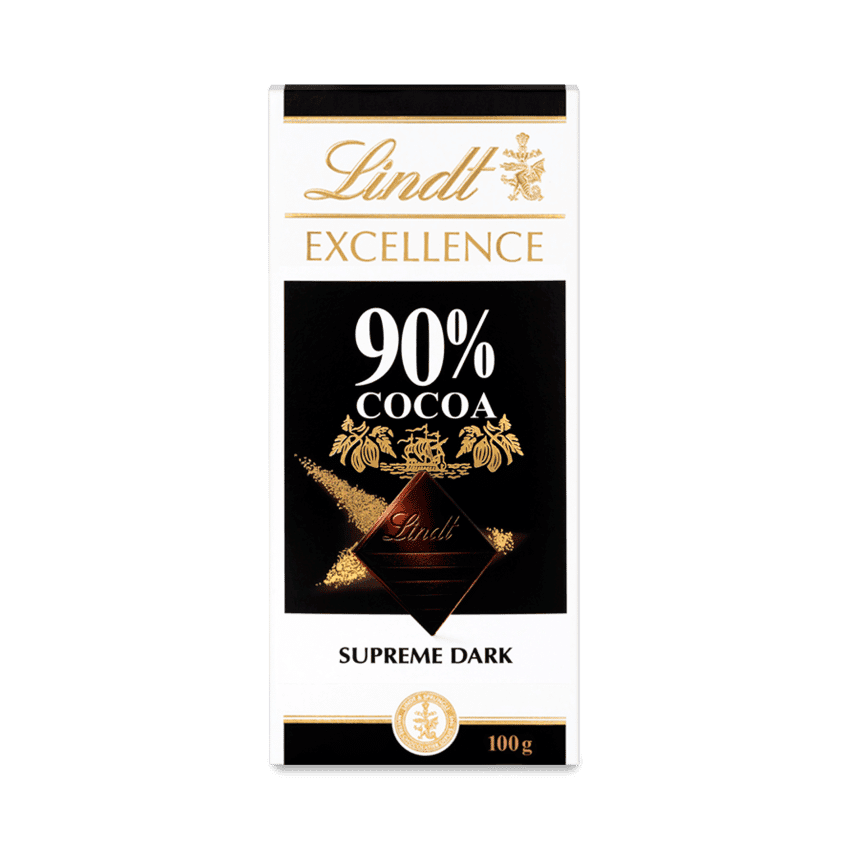 Lindt Excellence Dark 90% Bar 100g