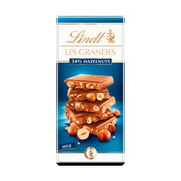 Lindt LES GRANDES Milk Hazelnut Bar 150g
