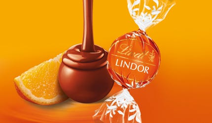 Lindt Lindor Milk Orange Truffle