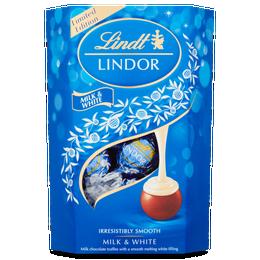 Lindt LINDOR Milk & White Chocolate Truffles 200g
