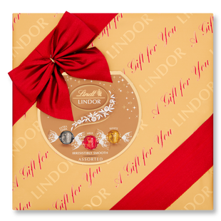 Lindt Lindor Assorted Gift Wrapped Box 287g - Short Dated Stock*