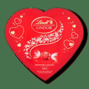 Lindt LINDOR Armour Heart Milk Truffle Box 160g - Short Dated Stock*