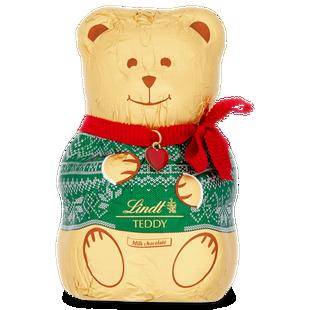 Lindt GOLD TEDDY Green Jumper Milk Chocolate 200g