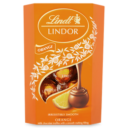 Lindt LINDOR Milk Orange Chocolate Truffles 200g