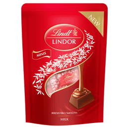 Lindt LINDOR Milk Chocolate Mini Sticks Pouch 90g