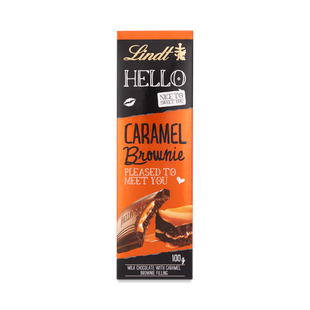 Lindt HELLO Caramel Brownie Bar 100g