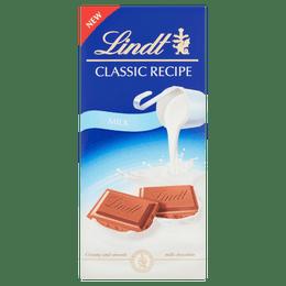 Lindt Classic Recipe Milk Chocolate Bar 125g