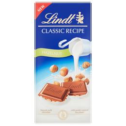Lindt Classic Recipe Milk Hazelnut Chocolate Bar 125g