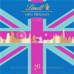 Lindt MINI PRALINES Box 100g - Union Jack Edition