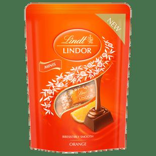 Lindt LINDOR Mini Sticks Pouch Milk Orange 90g