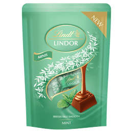 Lindt LINDOR Mini Sticks Pouch Mint 90g - Short Dated Stock*